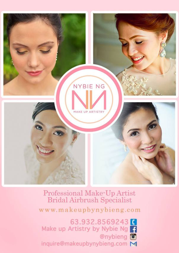 Nybie Ng Make Up Artistry 2015 Wedding rates cover